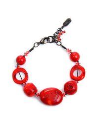 Dabby Reid - Pink Shell Bead Bracelet - Coral - Lyst