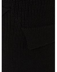 Christopher Shannon - Black Godet V Neck Sweater for Men - Lyst