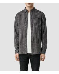 AllSaints - Gray Blackshear Shirt for Men - Lyst