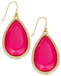 Kate Spade | Pink At First Blush Mother-of-pearl Drop Earrings | Lyst