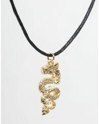 ASOS | Black Dragon Choker Necklace | Lyst