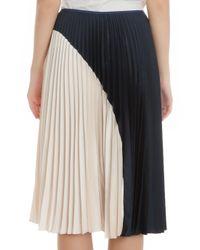 Theory Multicolor Zeyn Bi Color Pleat Skirt