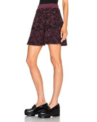 Opening Ceremony Purple Cabbage Knit Flare Skirt