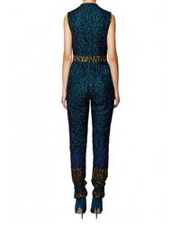 Matthew Williamson   Blue Rainbow Leopard Lace Jumpsuit   Lyst
