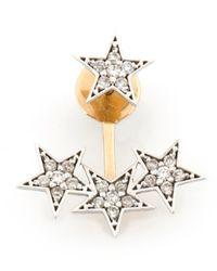 Kismet by Milka Metallic Wonder Woman White Diamond Stars Ear Jacket