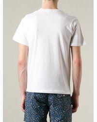 Saturdays NYC White Peace Print Tshirt for men