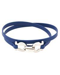 Ferragamo | Blue Gancini Bracelet | Lyst