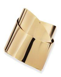 Alexis Bittar | Metallic Golden Metal Geometric Ribbon Cuff | Lyst