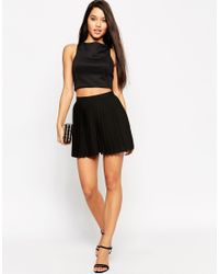 ASOS | Woven Pleated Shorts - Black | Lyst