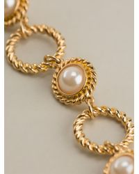 Moschino | Metallic Faux Pearl Necklace | Lyst