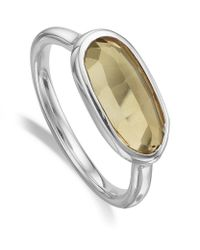Monica Vinader | Metallic Vega Citrine Ring | Lyst