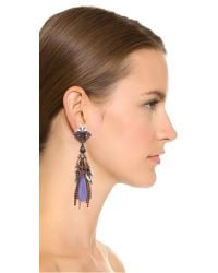 Erickson Beamon | Crystal Tassel Earrings - Blue Multi | Lyst