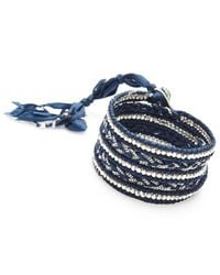 Nakamol - Multicolor Jhulier Wrap-silver/lapis - Lyst