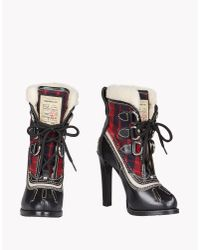 DSquared² | Black Duck Ankle Boots | Lyst