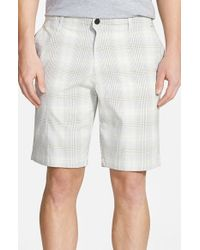 Tommy Bahama Gray 'tech It Away' Check Shorts for men