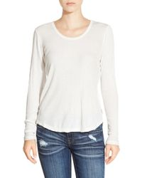 RVCA | White Long Sleeve Knit Top | Lyst