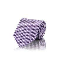 Ermenegildo Zegna Purple Men's Geometric Jacquard Necktie for men