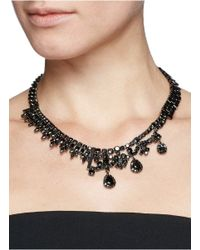 Iosselliani - Gray Asymmetric Zircon Watch Chain Necklace - Lyst