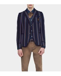 Gucci Blue Regimental Stripe New Palma Jacket for men