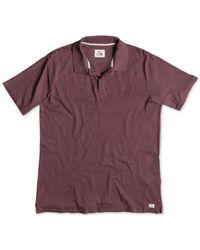 Quiksilver | Purple Life Inside Cotton Slub Polo for Men | Lyst