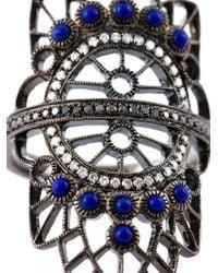 Joelle Jewellery - Metallic Oversized Geometric Diamond Ring - Lyst