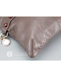Lanvin - Brown Preowned Twoway Convertible Clutch Bag - Lyst
