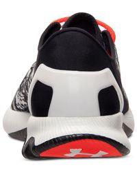 Under Armour Black Men'S Speedform Apollo Graphic Running Sneakers From Finish Line for men