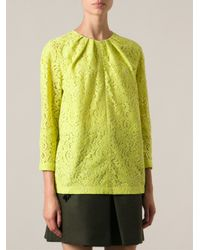 N°21 Green Floral Lace Top