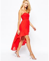 TFNC London | Red Prom Dress With High Low Hem | Lyst