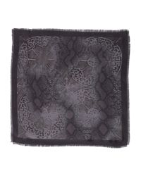 Just Cavalli | Gray Square Scarf for Men | Lyst