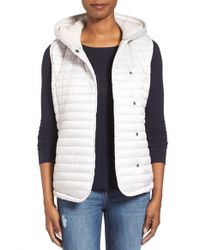UGG White Australia Outerwear 'rene' Hooded Quilted Vest