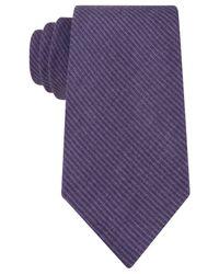 Kenneth Cole Reaction | Purple Melange Solid Tie for Men | Lyst