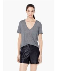 Mango - Gray Patch Pocket T-shirt - Lyst