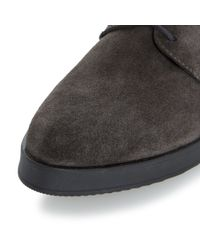 Dune Gray Franko Suede Lace Up Shoes for men