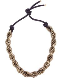 Lanvin - Yellow 'katoucha' Necklace - Lyst