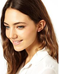 ASOS | Metallic Sterling Silver Triangle Earrings | Lyst