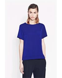 French Connection | Blue Polly Plains Pocket Top | Lyst
