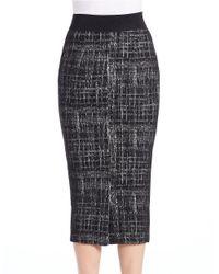 Essentiel Antwerp - Black Marled Midi Pencil Skirt - Lyst