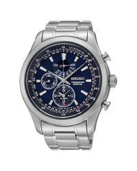 Seiko Blue Spc125p1 Men's Alarm Chronograph Bracelet Strap Watch for men