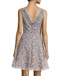 ERIN Erin Fetherston - Multicolor Vanessa Sleeveless Floral Embroidered Dress - Lyst