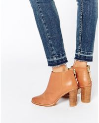 Ted Baker | Brown Lorca 2 Tan Leather Heeled Ankle Boots | Lyst