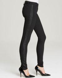 J Brand Black Jeans - Exclusive Photo Ready Devin Tuxedo Stripe Skinny In Vanity