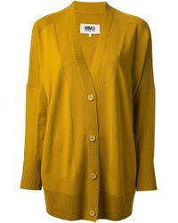 MM6 by Maison Martin Margiela - Green Oversized Cardigan - Lyst