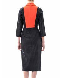 ROKSANDA Blue Lander Check Contrast Collar Dress