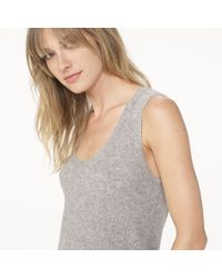 James Perse Gray Cashmere Ribbed Tank