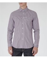 Reiss | Purple Glover Slim-fit Checked Shirt for Men | Lyst