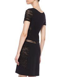 Ralph Rucci - Black Barbed Wire Wool Dress - Lyst