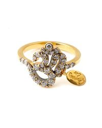 Queensbee | Metallic Om Ring | Lyst