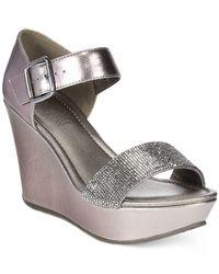 Kenneth Cole Reaction - Metallic Women's Sole Less 2 Platform Wedge Sandals - Lyst