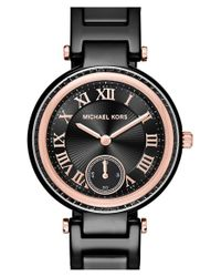 MICHAEL Michael Kors | Black 'mini Skylar' Bracelet Watch | Lyst
